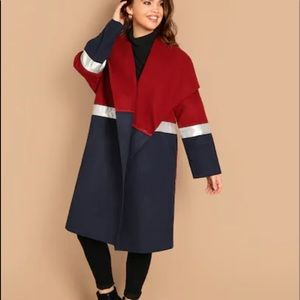 Jackets & Blazers - Multicolor casual color block coat